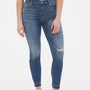Gap True Skinny Jeans with Distressed Detail